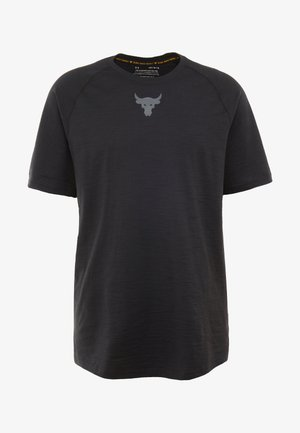 PROJECT ROCK CHARGED - Print T-shirt - black/pitch gray