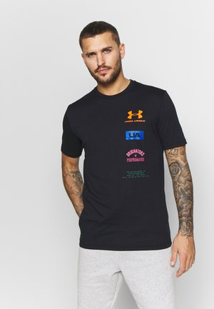 ORIGINATORS BACK - T-shirt imprimé - black/orange spark