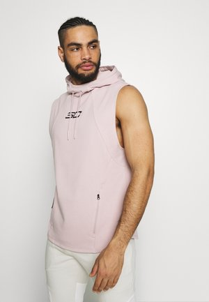 SLEEVELESS HOODY - Hættetrøjer - dash pink/black
