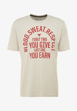 PROJECT ROCK - T-shirt med print - summit white/versa red