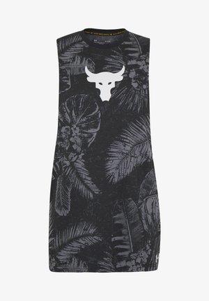 PROJECT ROCK ALOHA CAMO TANK - Koszulka sportowa - black/summit white