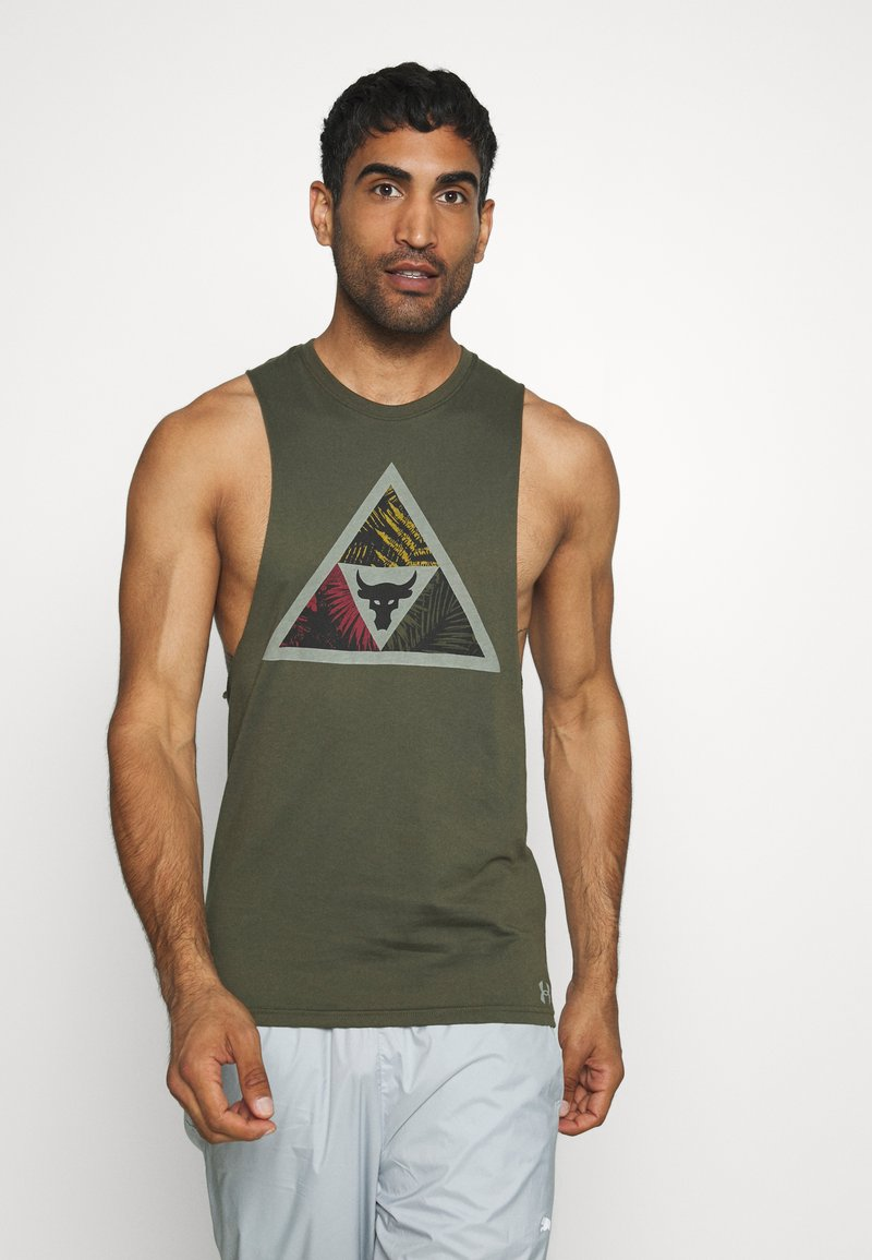 Under Armour - PROJECT ROCK MANA TANK - Top - guardian green/black