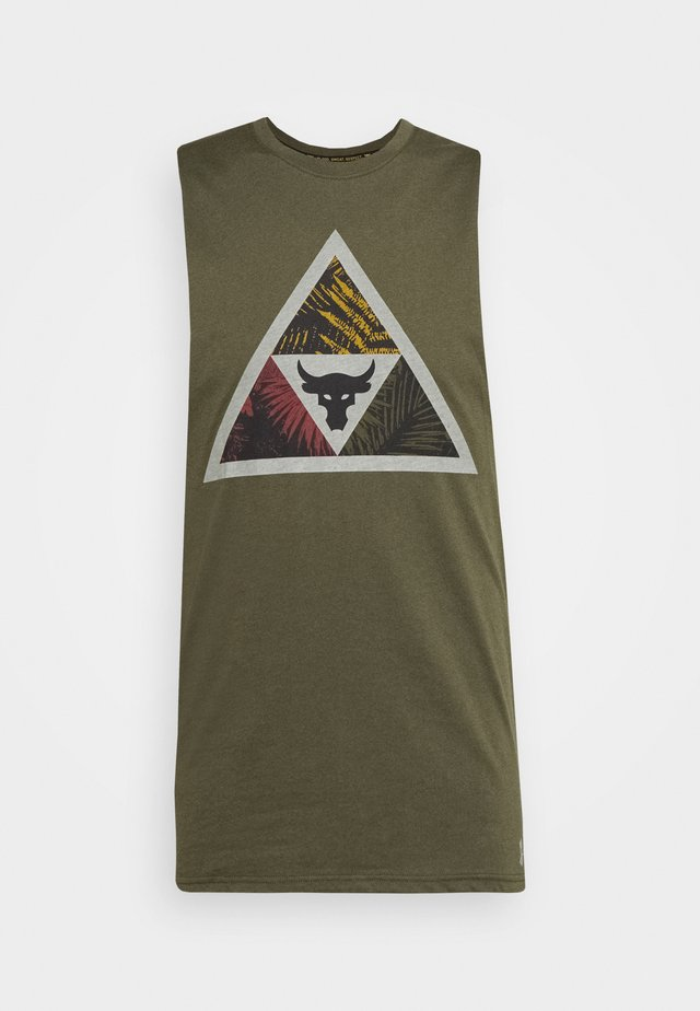 PROJECT ROCK MANA TANK - Top - guardian green/black
