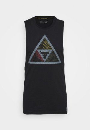 PROJECT ROCK MANA TANK - Toppi - black/summit white
