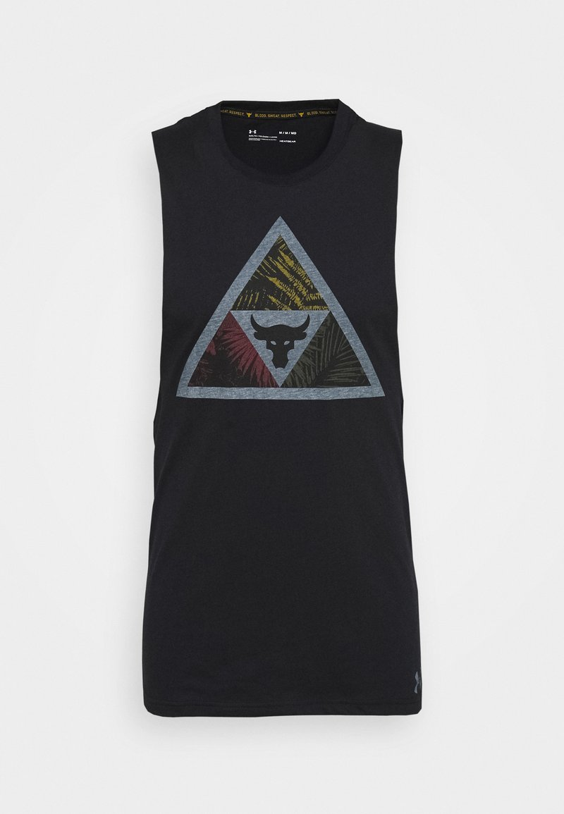 Under Armour - PROJECT ROCK MANA TANK - Débardeur - black/summit white