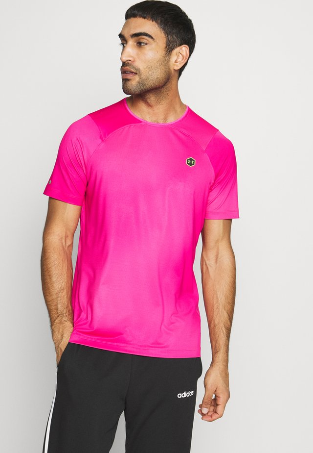 RUSH FITTED PRINTED - T-shirt con stampa - pink surge