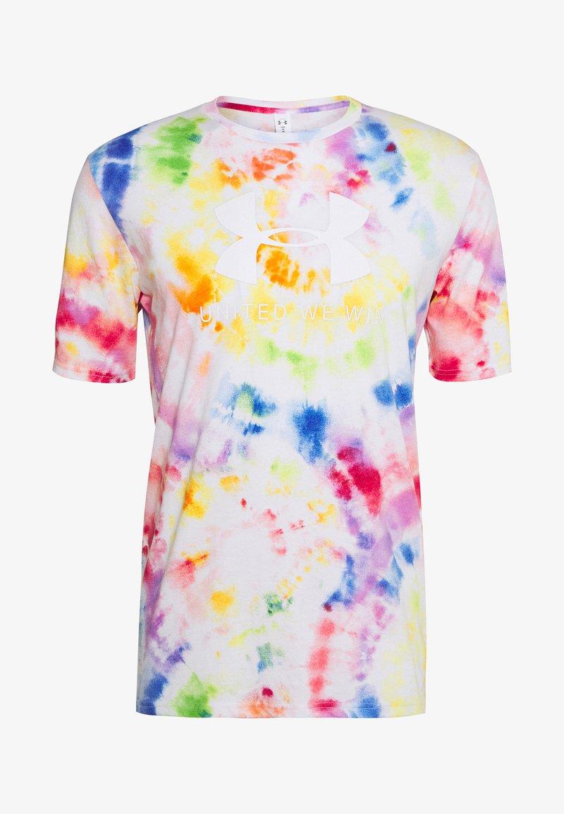 Under Armour - PRIDE TIE DYE - T-shirt imprimé - white