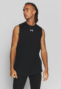 Under Armour - CHARGED TANK - Funktionsshirt - black/white - 0