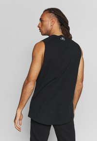 Under Armour - CHARGED TANK - Funktionsshirt - black/white - 2
