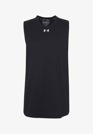 CHARGED TANK - Sportshirt - black/white