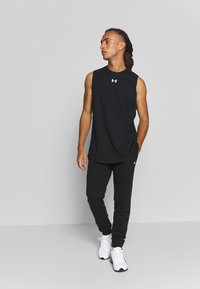 Under Armour - CHARGED TANK - Funktionsshirt - black/white - 1