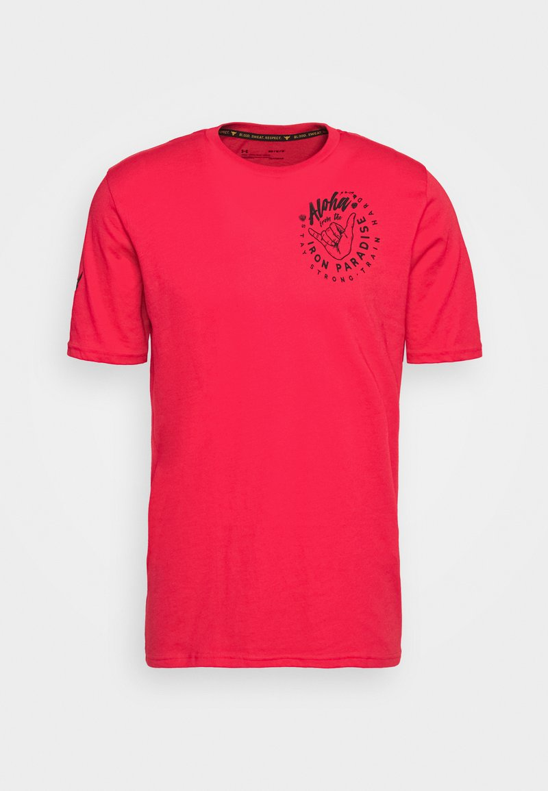 Under Armour - PROJECT ROCK IRON PARADISE  - T-shirt sportiva - versa red/black