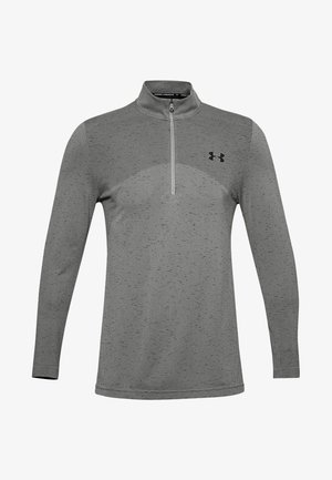 UA SEAMLESS 1/2 ZIP - Long sleeved top - green