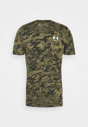 CAMO - T-shirt z nadrukiem - black/khaki