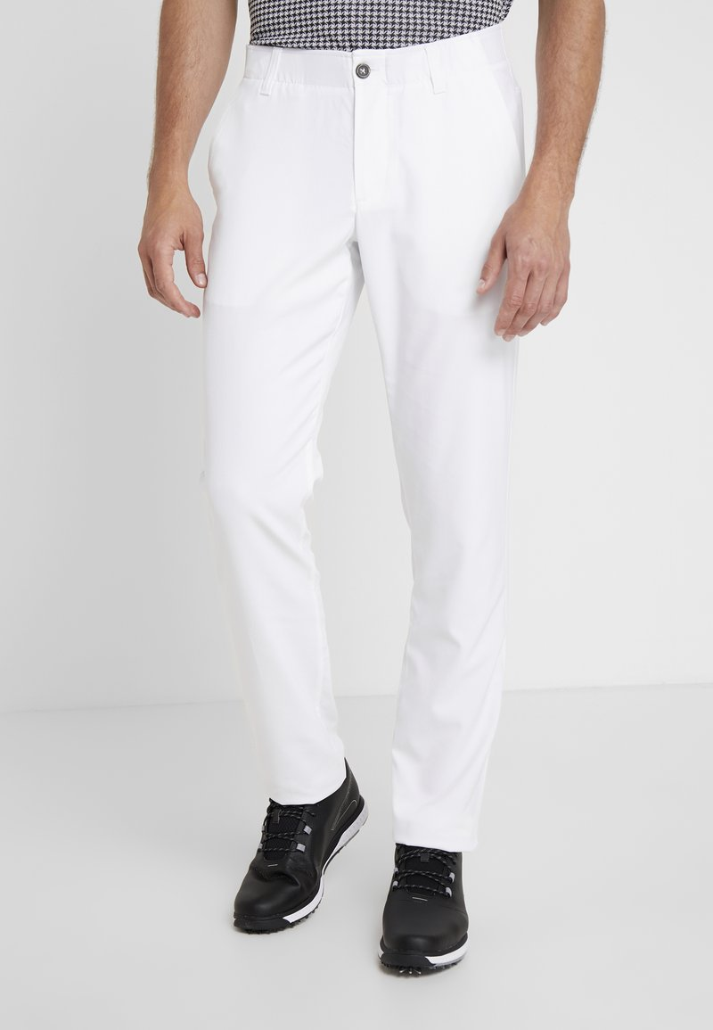 Under Armour - TAKEOVER GOLF PANT TAPER - Chinot - white