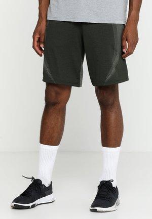 THREADBORNE SEAMLESS SHORT - Pantaloncini sportivi - artillery green/moss green