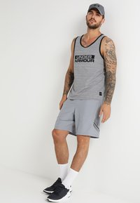 Under Armour - Sports shorts - steel/black - 1