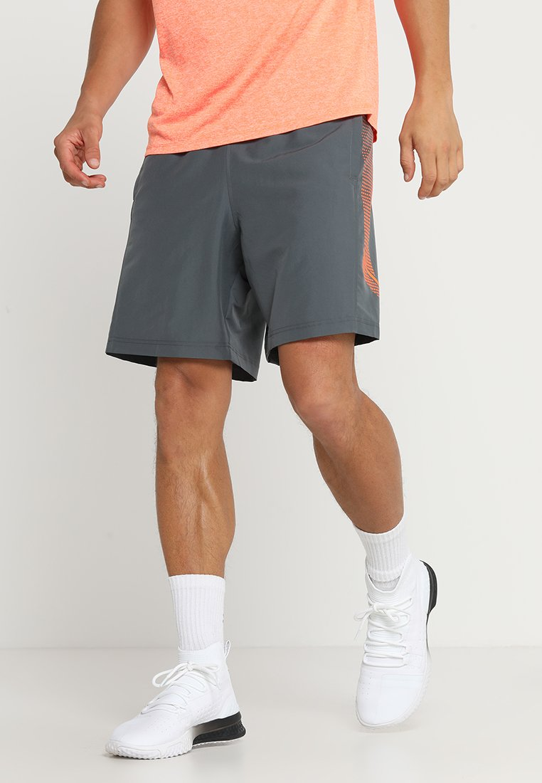 Under Armour - GRAPHIC SHORT - kurze Sporthose - pitch gray/orange glitch