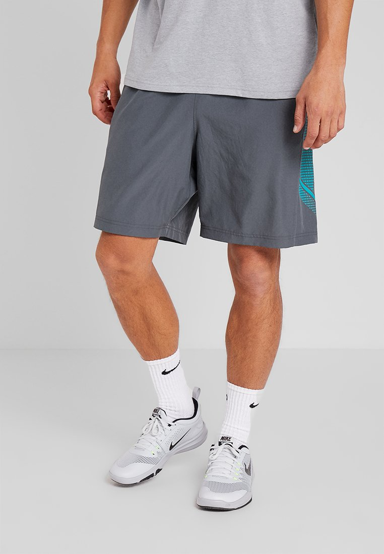 Under Armour - GRAPHIC SHORT - Sports shorts - pitch gray/teal rush