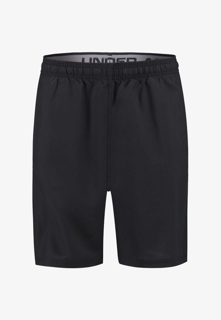Under Armour - WORDMARK - Korte sportsbukser - black/grey