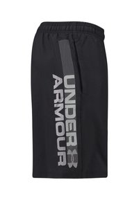 Under Armour - WORDMARK - Korte sportsbukser - black/grey - 3