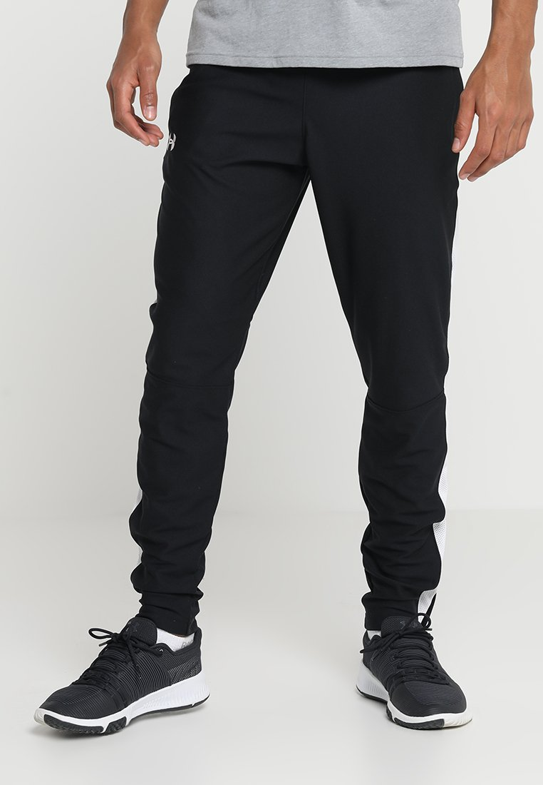 Under Armour - ALLSEASONGEAR SPORTSTYLE TRAININGSHOSE HERREN - Tracksuit bottoms - black/white