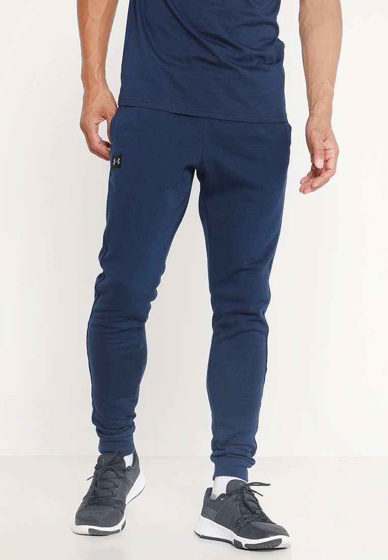 Under Armour - RIVAL  JOGGER - Tracksuit bottoms - academy/black