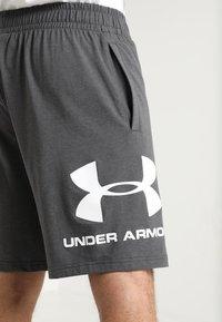 Under Armour - SPORTSTYLE COTTON LOGO SHORTS - Sports shorts - charcoal medium heather/white - 4