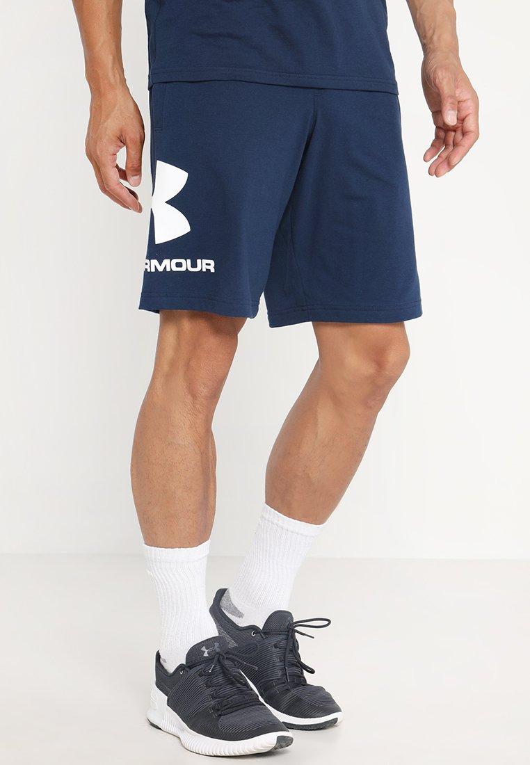 Under Armour - SPORTSTYLE COTTON LOGO SHORTS - Pantaloncini sportivi - academy/white