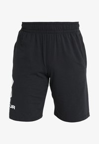 Under Armour - SPORTSTYLE COTTON LOGO SHORTS - kurze Sporthose - black/white - 4