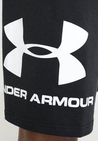 Under Armour - SPORTSTYLE COTTON LOGO SHORTS - kurze Sporthose - black/white - 5