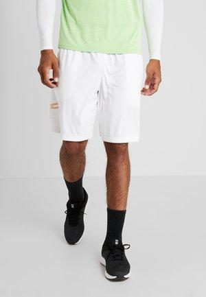 TECH GRAPHIC SHORT - Sports shorts - white/golden yellow