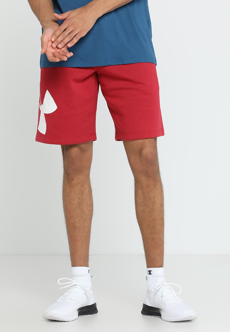 Under Armour - RIVAL LOGO SHORT - kurze Sporthose - aruba red/onyx white