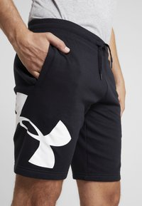 Under Armour - RIVAL LOGO SHORT - Träningsshorts - black/white - 4
