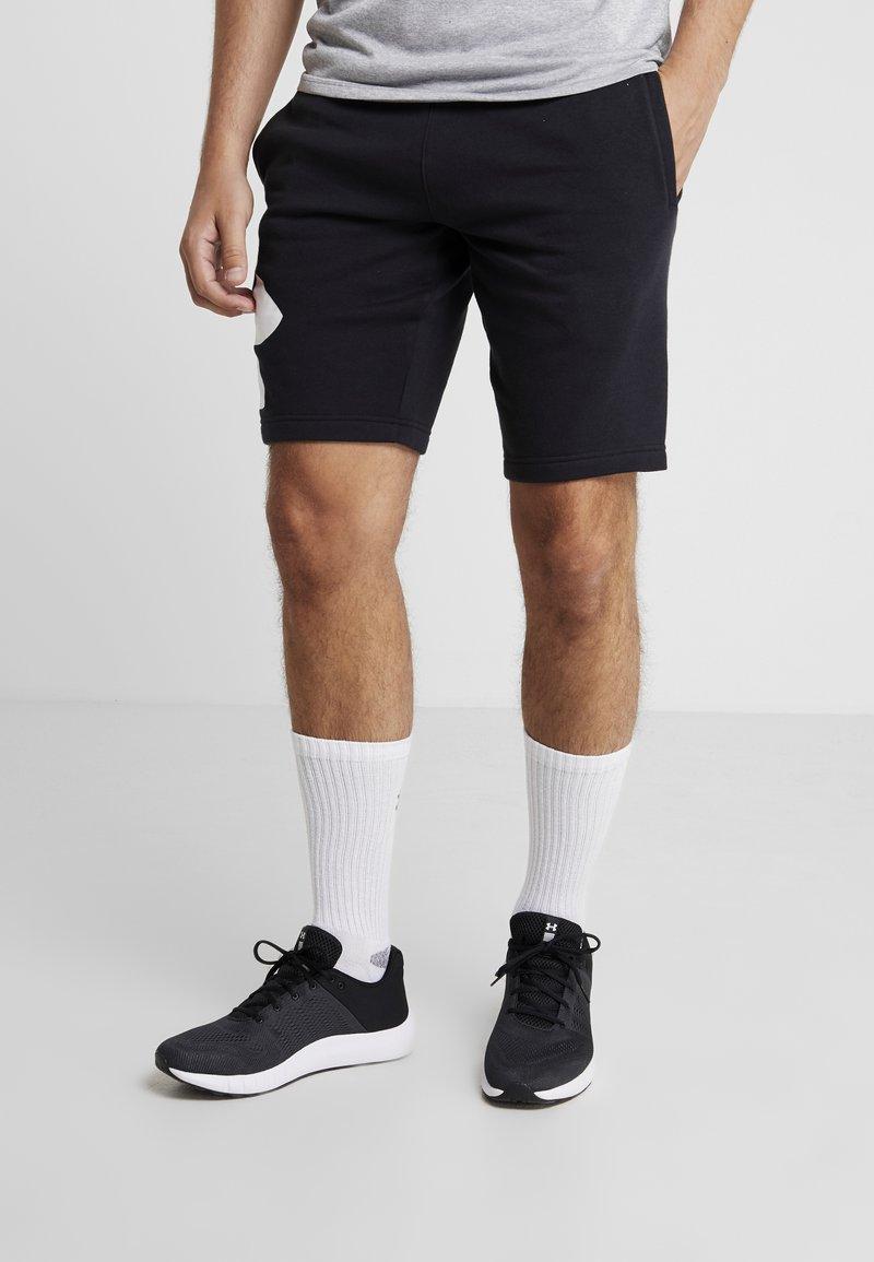 Under Armour - RIVAL LOGO SHORT - Sports shorts - black/white