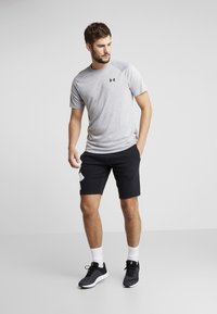 Under Armour - RIVAL LOGO SHORT - Träningsshorts - black/white - 1
