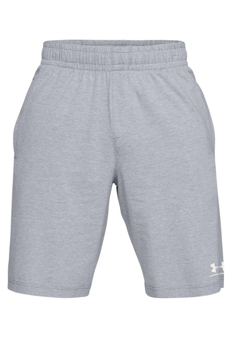 Medium Navy Blue Under Armour Sportstyle Cotton Shorts
