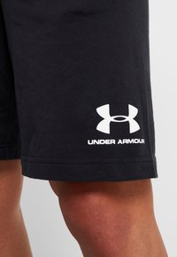 Under Armour - SPORTSTYLE SHORT - Sports shorts - black/white - 4