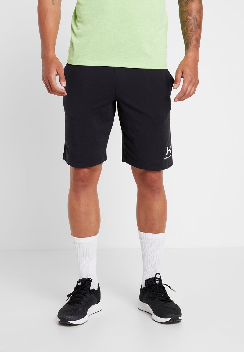 Under Armour - SPORTSTYLE SHORT - Sports shorts - black/white