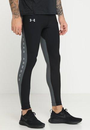 QUALIFIER HEATGEAR GLARE - Leggings - black/pitch gray