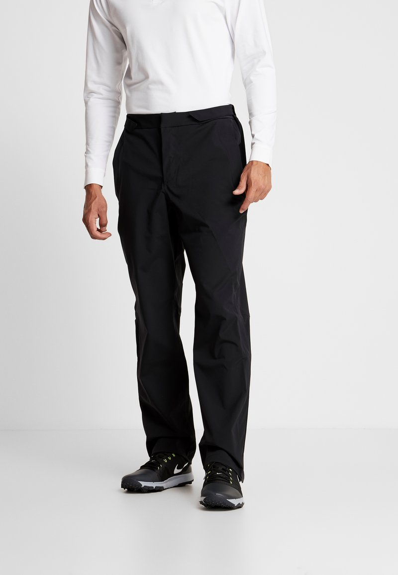 Under Armour - ELEMENTS RAIN PANT - Tygbyxor - black/pitch gray