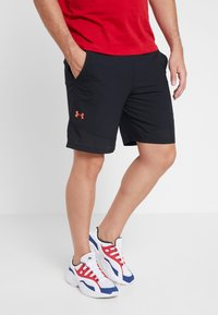 Under Armour - VANISH SHORT NOVELTY - Sports shorts - black/beta red - 0