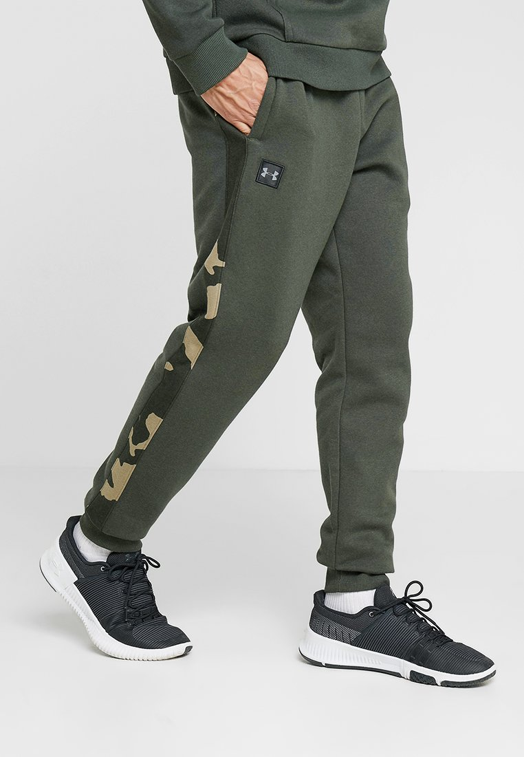 Under Armour - RIVAL PRINTED - Jogginghose - baroque green/black