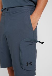 Under Armour - UNSTOPPABLE  - Outdoor shorts - wire/black - 4