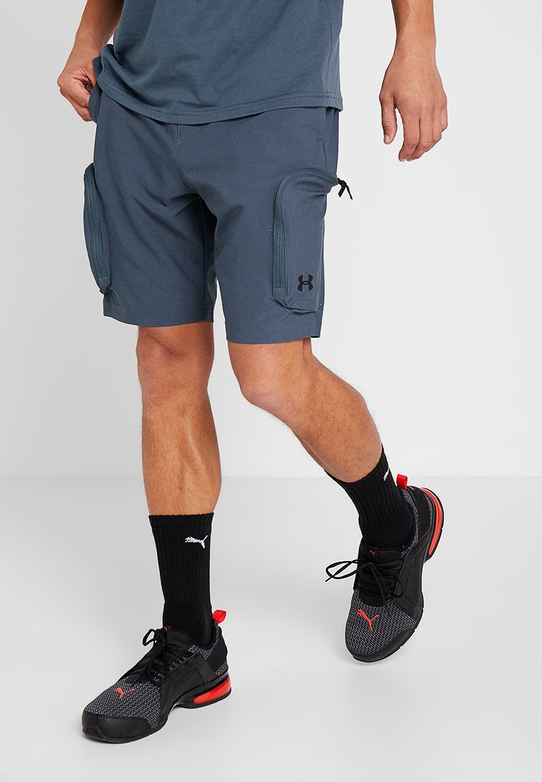 Under Armour - UNSTOPPABLE  - Outdoor shorts - wire/black