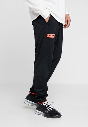 GAMETIME PANT - Verryttelyhousut - black/beta red