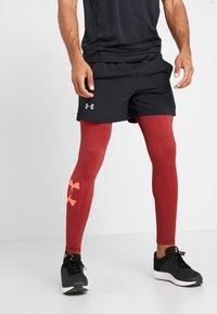 Under Armour - LEGGING NOVELTY - Medias - black/martian red/beta red - 0