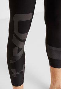 Under Armour - 2.0 LEG GRAPHIC - Tights - black/jet gray - 5
