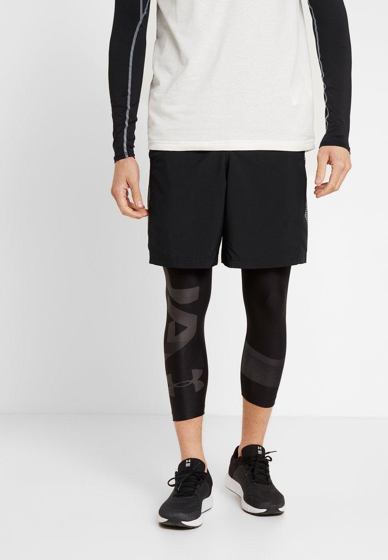 Under Armour - 2.0 LEG GRAPHIC - Tights - black/jet gray