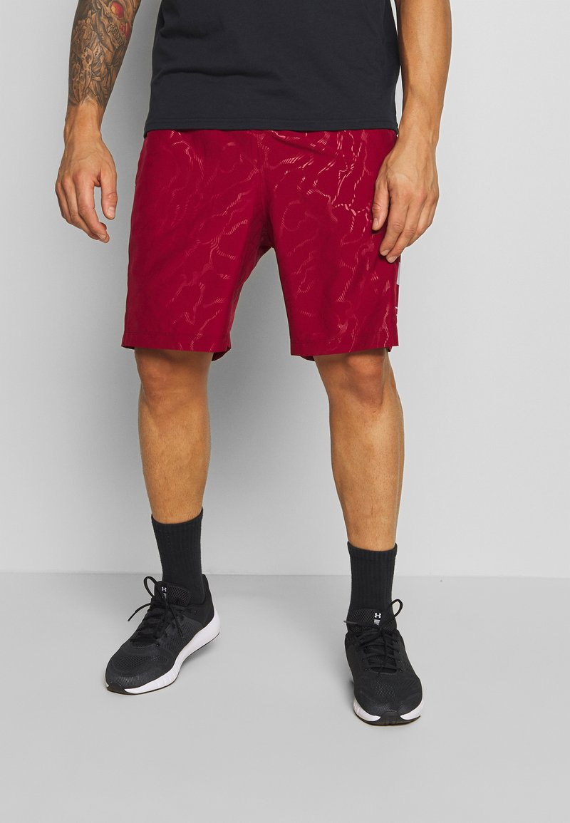 Under Armour - GRAPHIC EMBOSS SHORTS - Korte broeken - cordova/mod gray